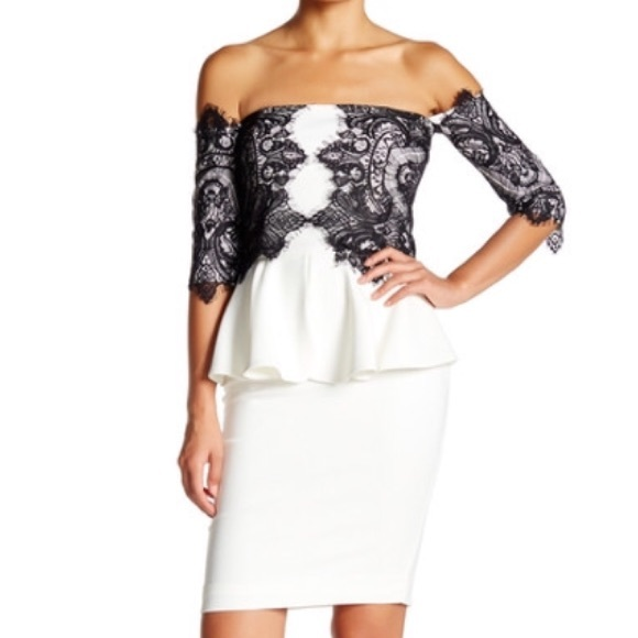 issue new york Dresses | Womens Peplum Cocktail Dress Xs Issue Lace ...